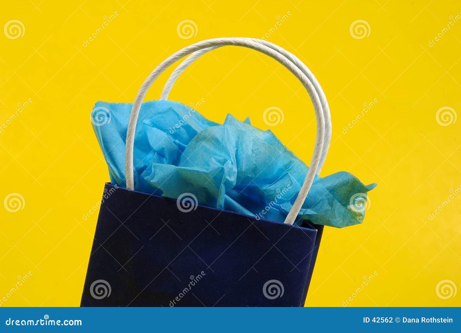Download Giftbag azul foto de archivo. Imagen de regalos, compras - 42562