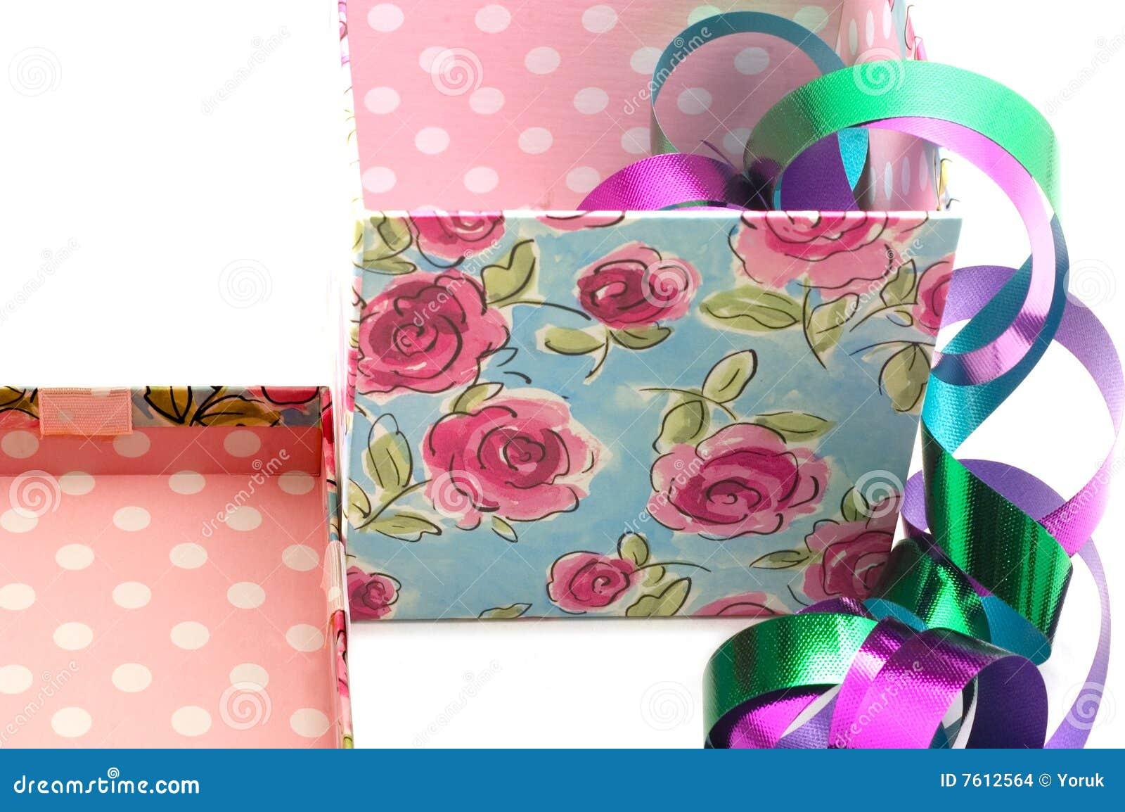 Giftbox盒盖丝带