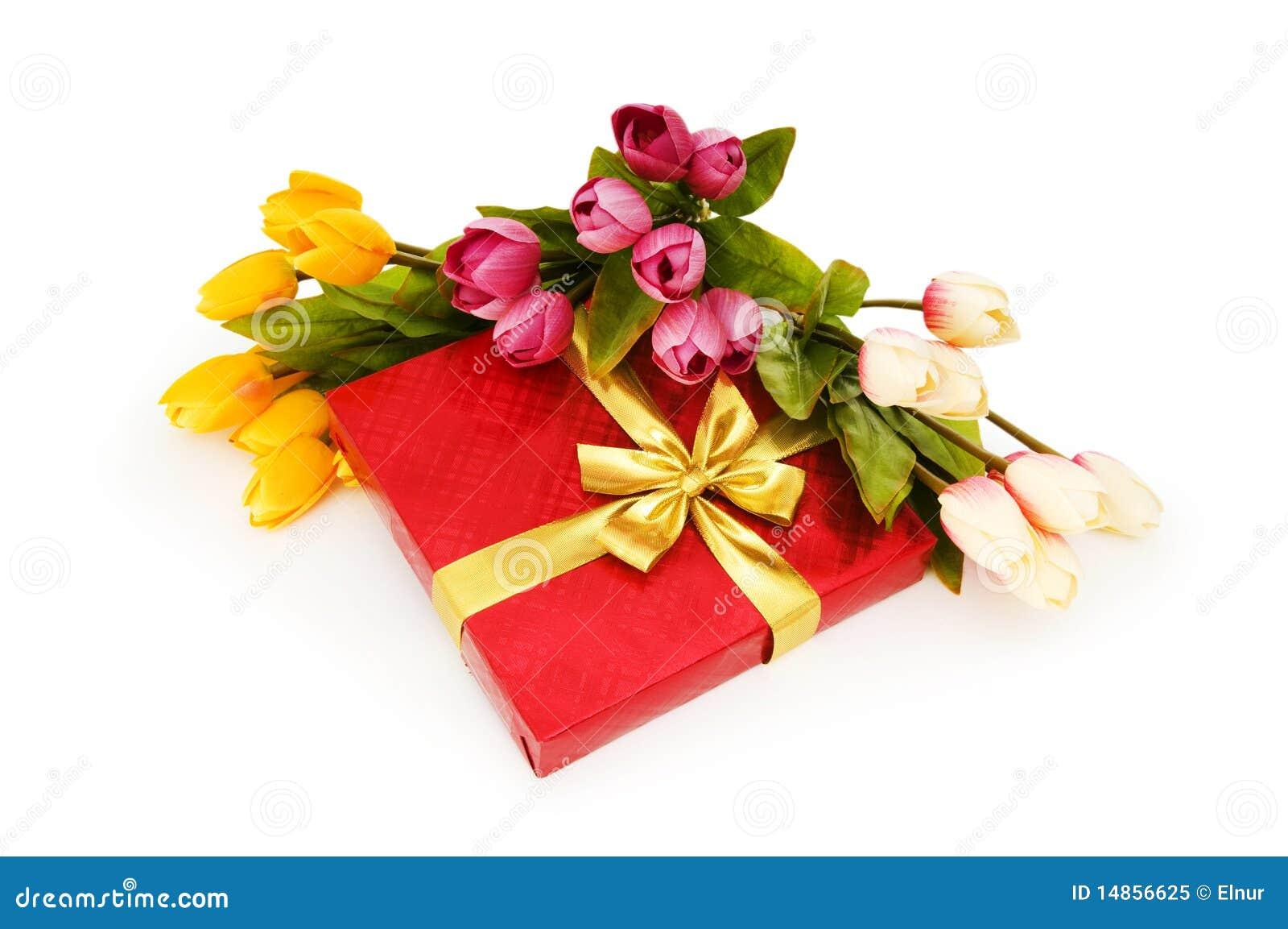 Giftbox et fleurs