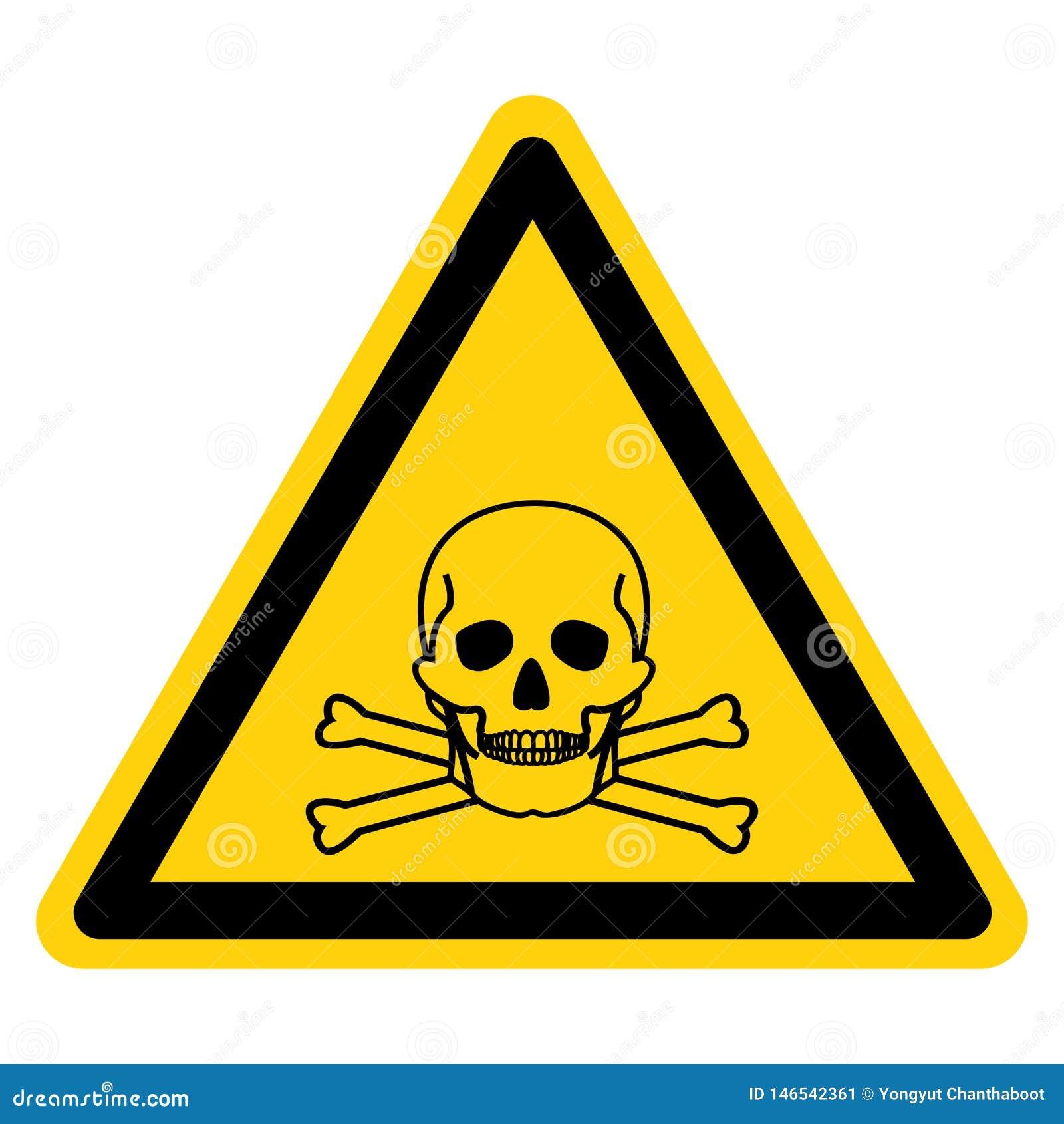 Giftligt materiellt symboltecken, vektorillustration, isolat på den vita bakgrundsetiketten EPS10