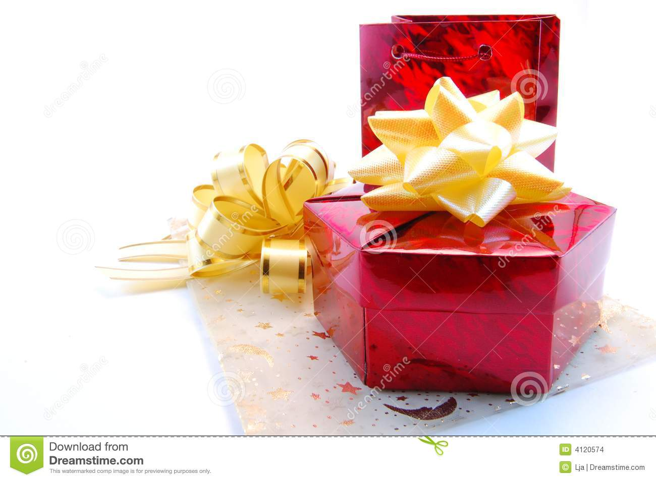 Download Gifts stock photo. Image of happy, holiday, gold, container - 4120574