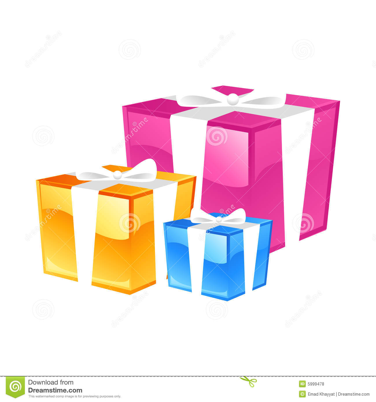Gifts stock illustration of presents boxes