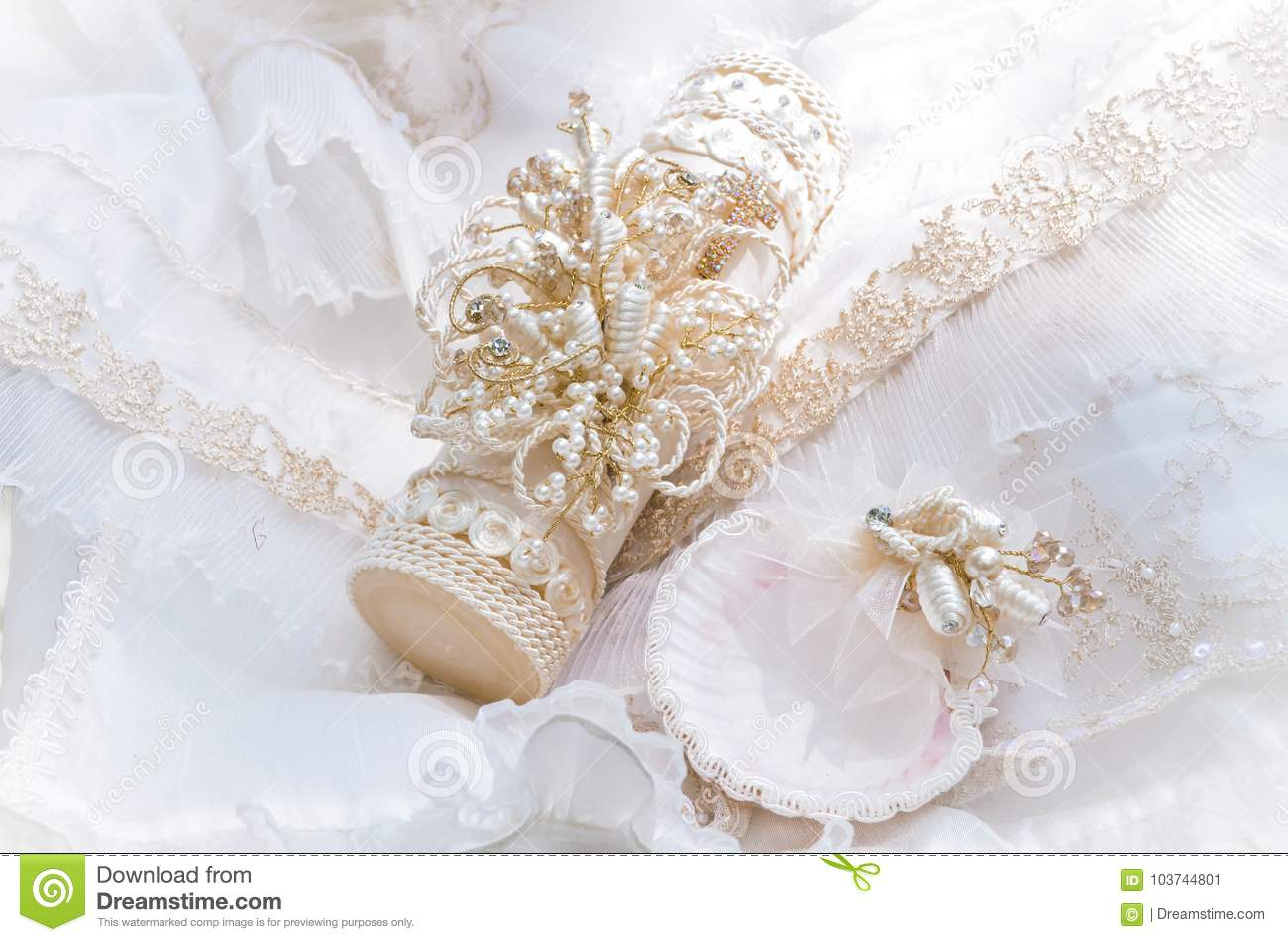 Gifts Of Baby Christening Stock Image Image Of Clothes 103744801