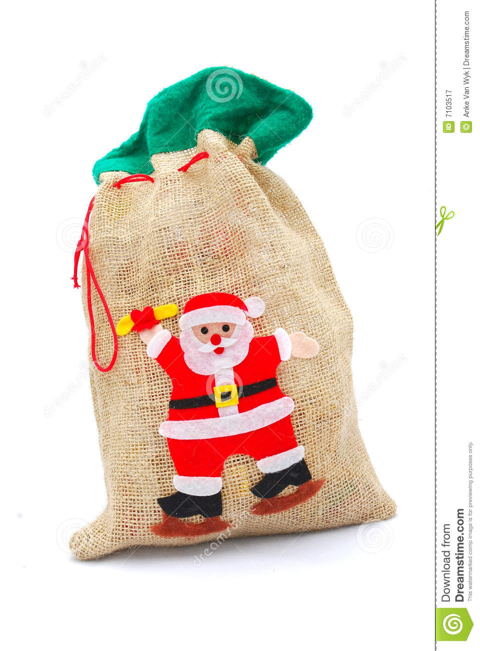 Gifts In Christmas Gunny Sack Royalty Free Stock Photography - Image ...