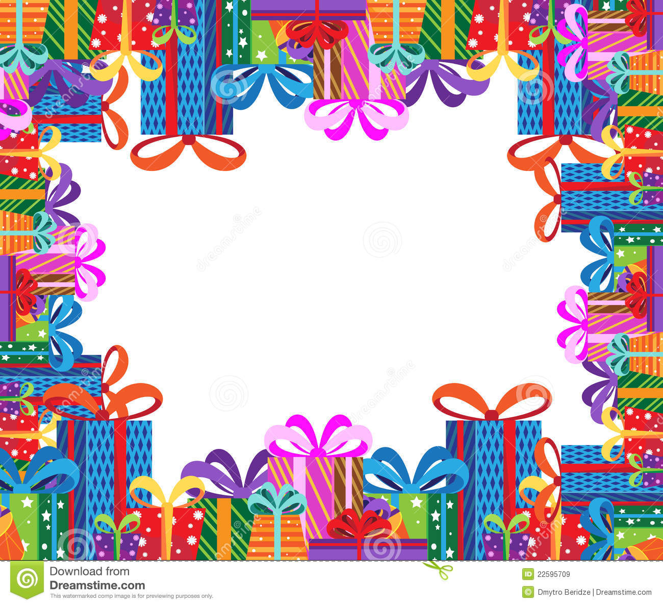 Gifts Frame Royalty Free Stock Images - Image: 22595709