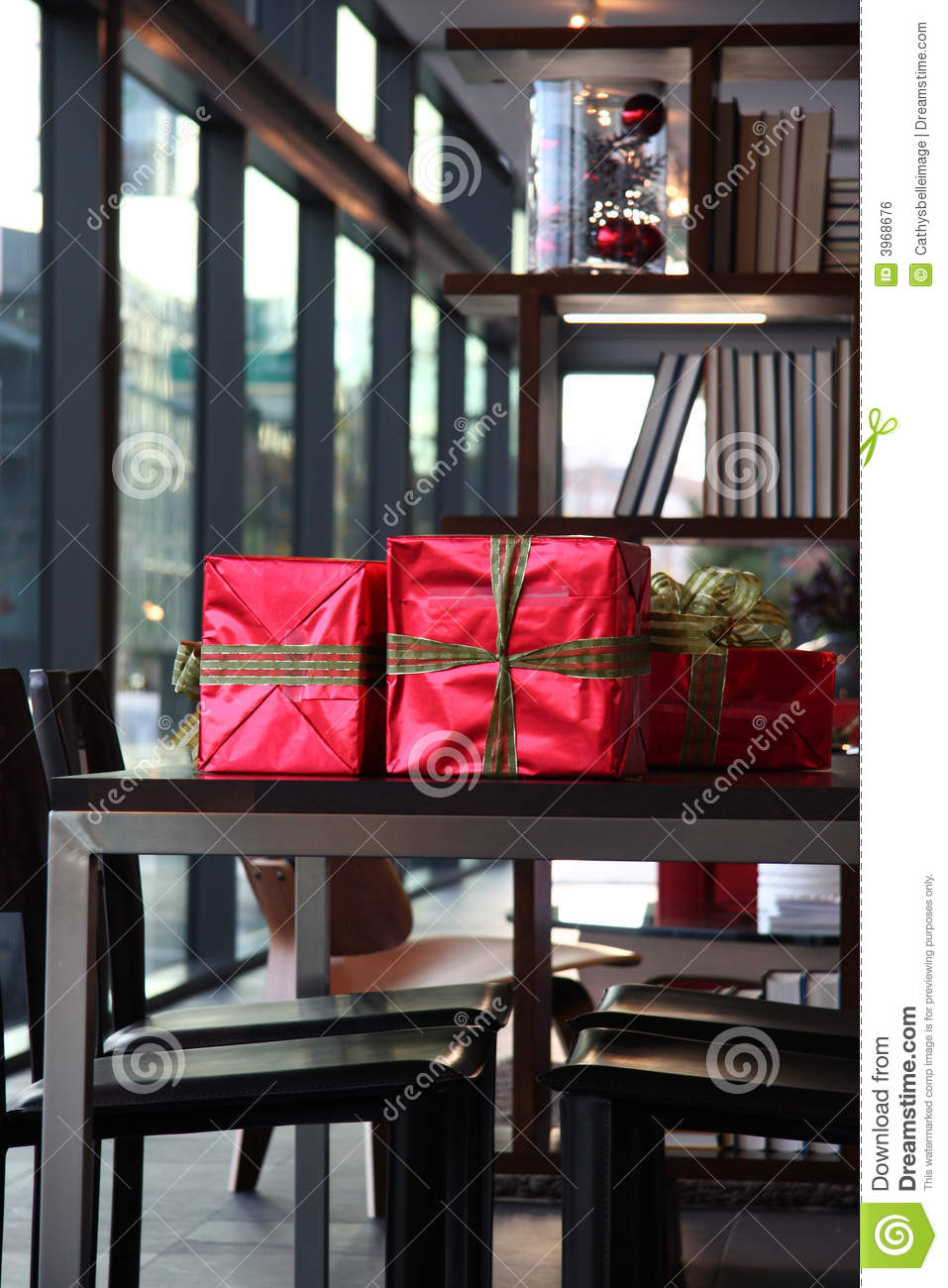 Gifts on table