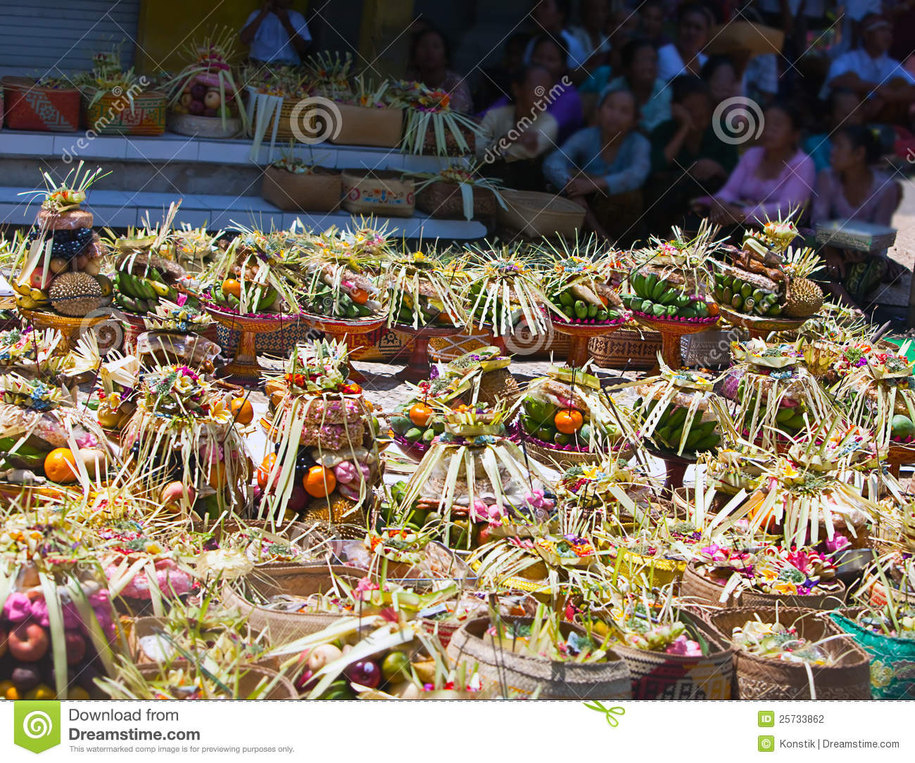 Gifts to gods on a religious holiday.Bali
