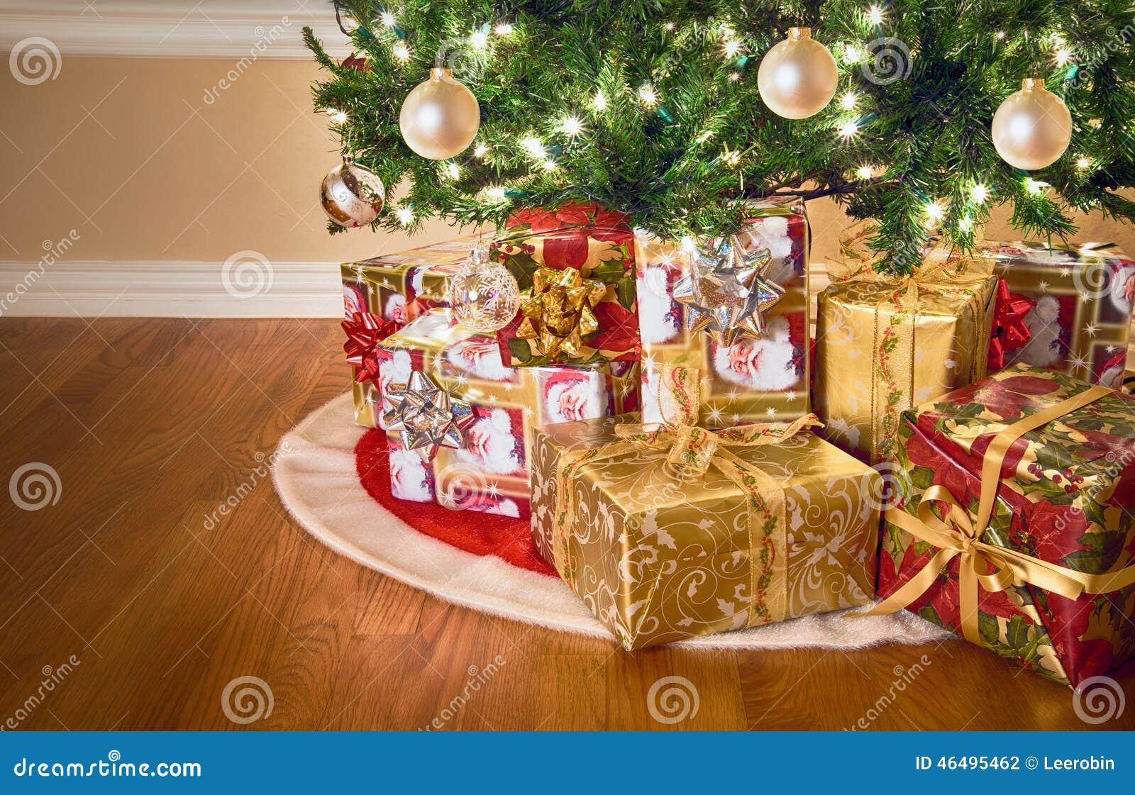 Gifts Under Christmas Tree Stock Photo Image 46495462