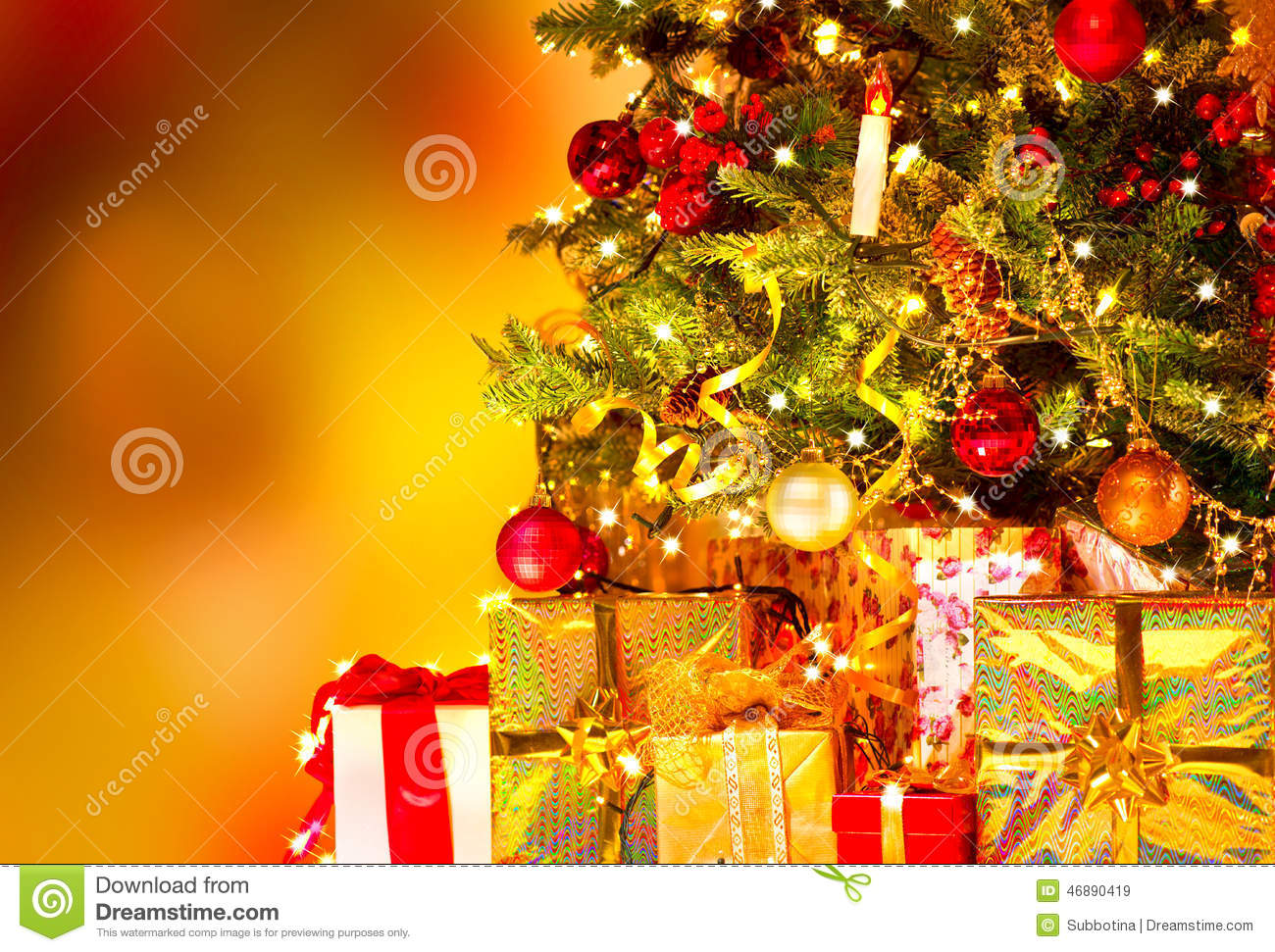 Gifts Under The Christmas Tree Stock Image - Image of home, boxes ...