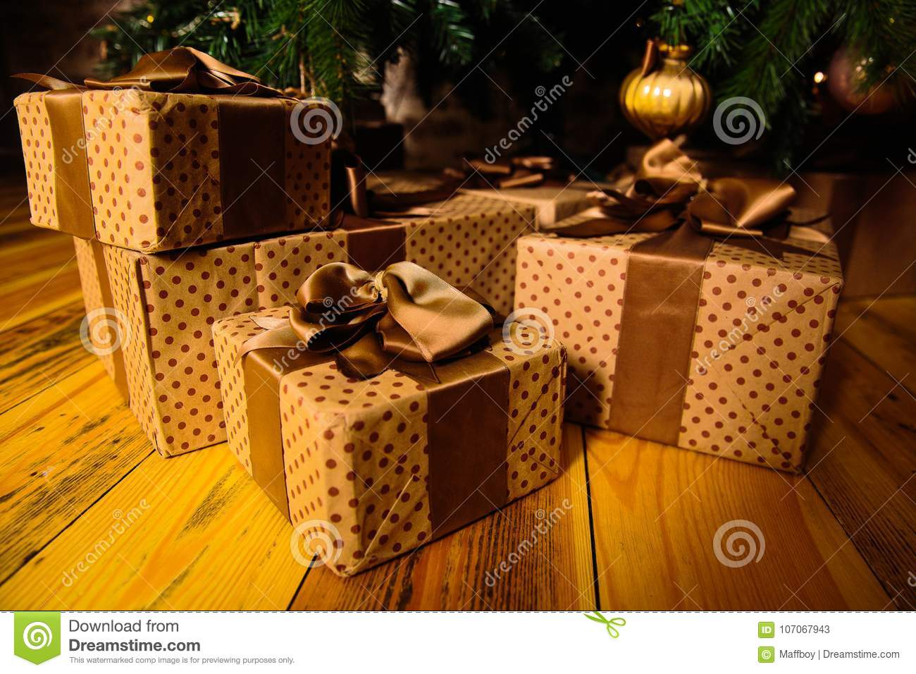 Gifts are under the tree