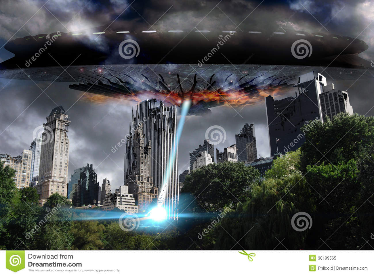 alien attack royalty free stock photo