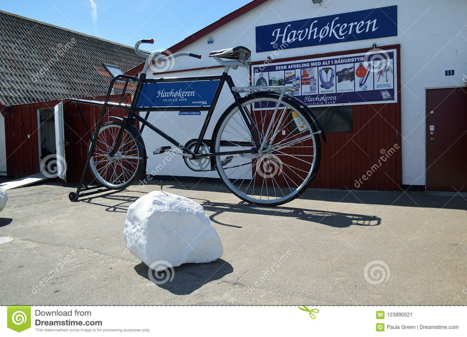 Gigantisk cykel på Gilleleje