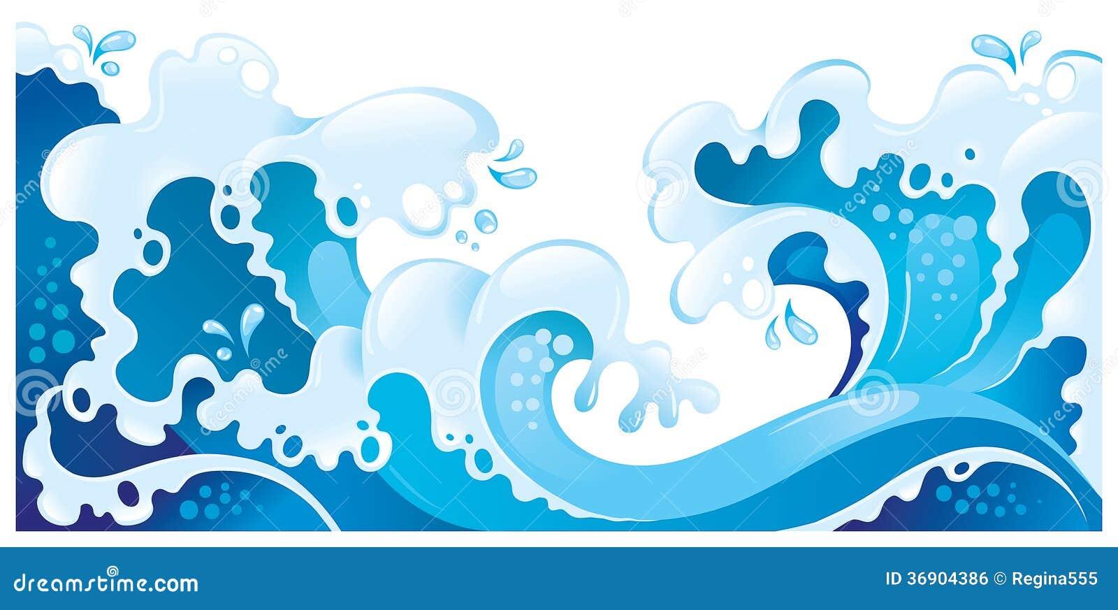 Gigantyczne morze fala odizolowywać na bielu