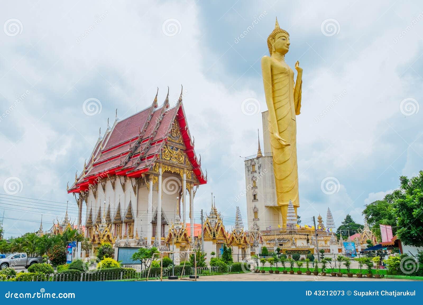 Gigantyczny złoty Buddha, buddyzm, Tajlandia
