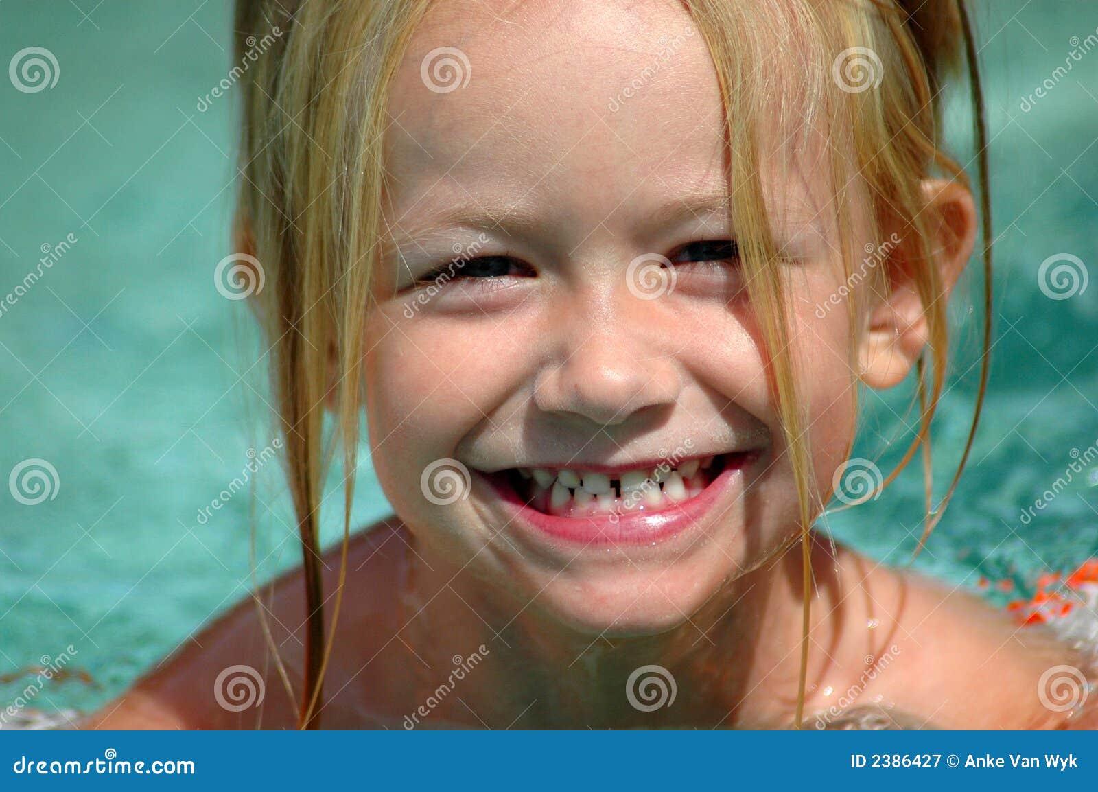 Giggling child