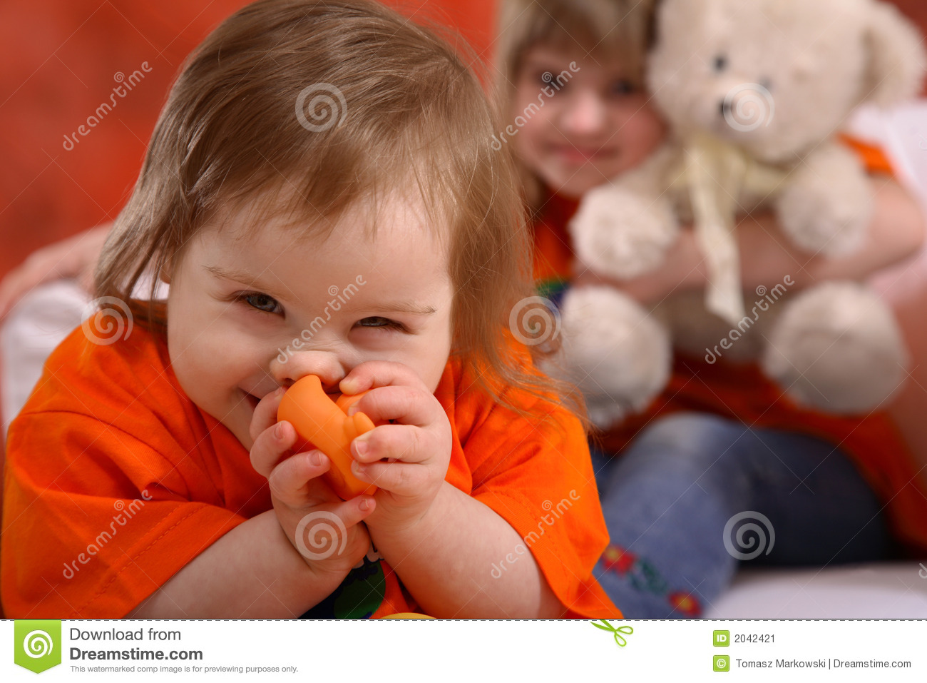 giggling handicapped girl stock image image 2042421 Two Friends Holding Hands Clip Art Cartoon Boy and Girl Holding