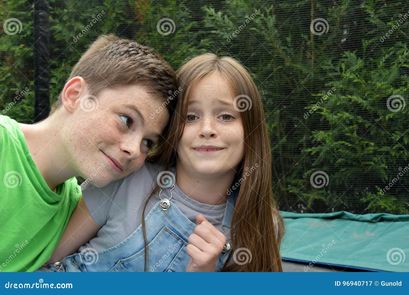 Giggly siblings