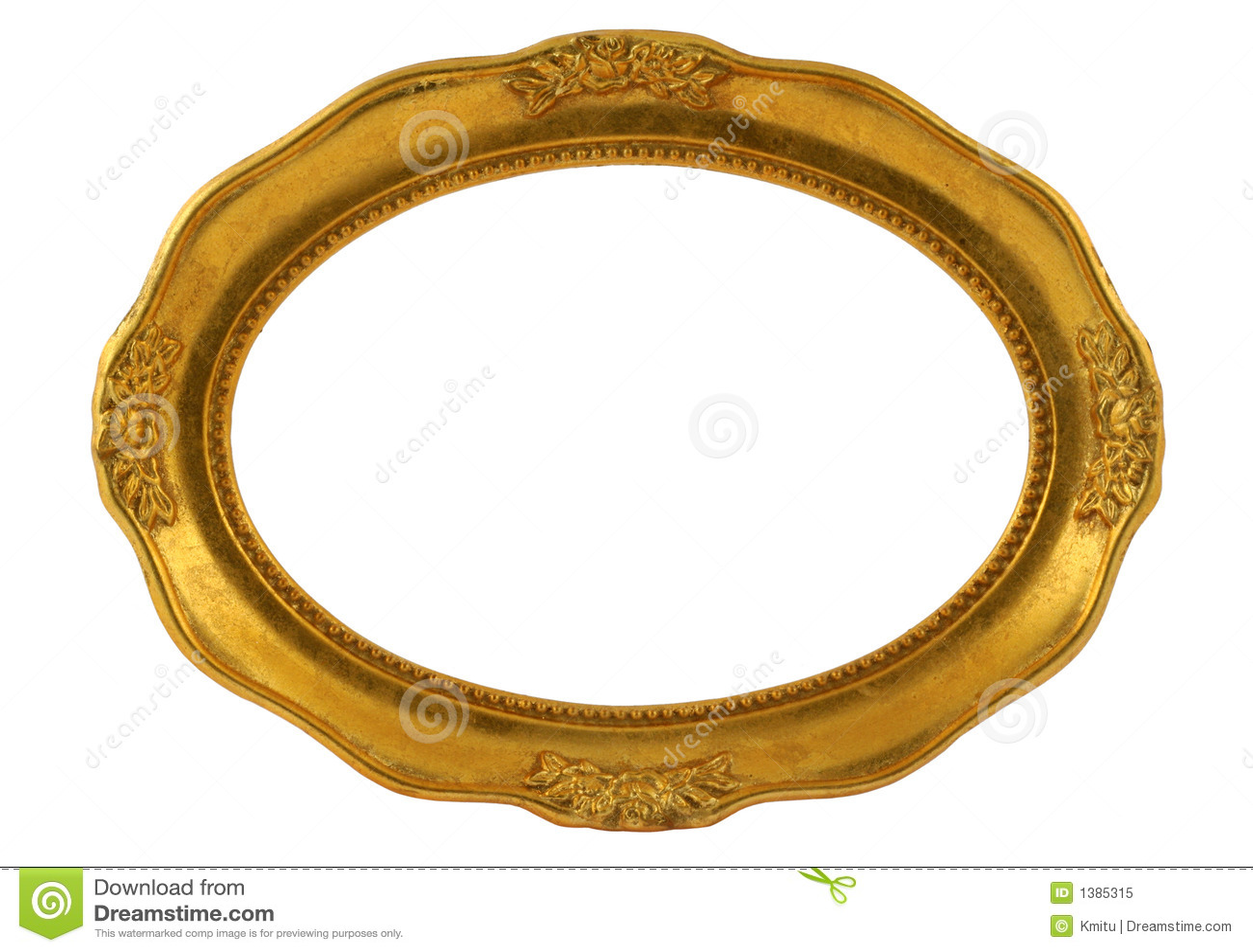 gilded oval frame stock image image of horizontal empty 1385315