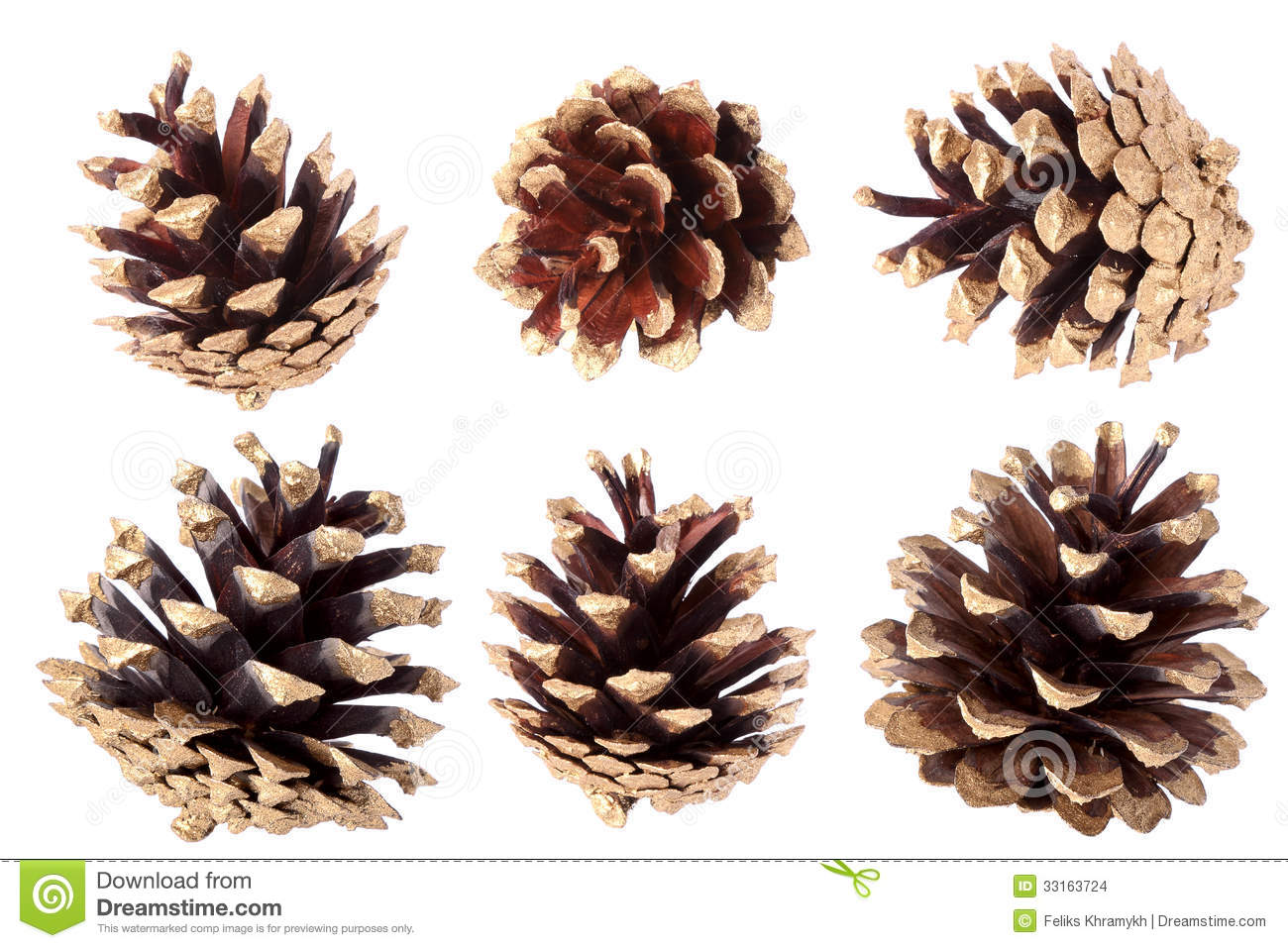 Gilded pine cone christmas decoration stock photo for What to do with pine cones for christmas