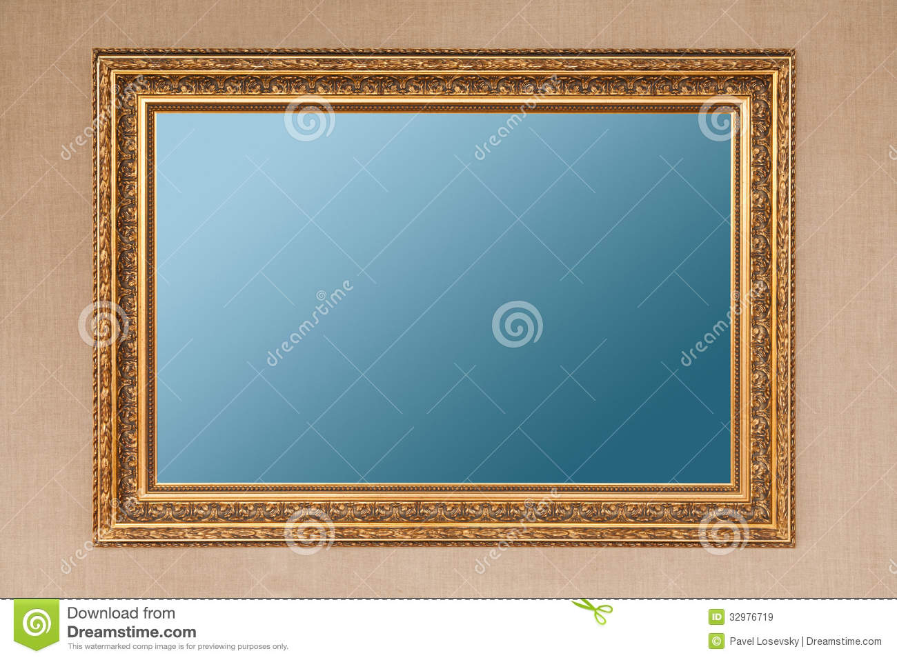 Gilding Empty Picture Frame Royalty Free Stock Images ...