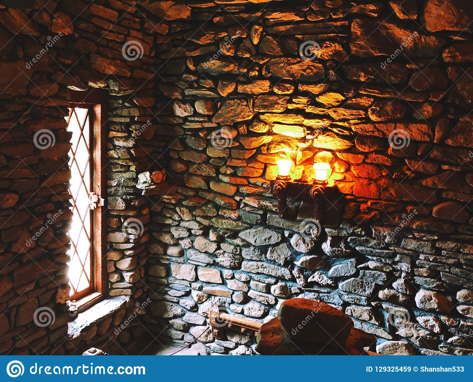 Gillette Castle interior medieval light and wall