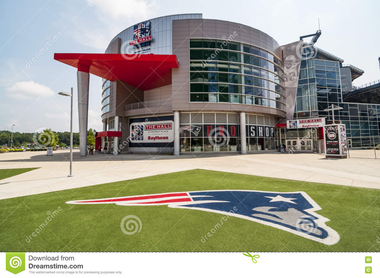 c04e506d0e5 FOXBORO, MA - AUGUST 4: Gillette Stadium, home of the New England Patriots  on August 4, 2012. It is located 21 miles southwest of Boston and 20 miles  from ...