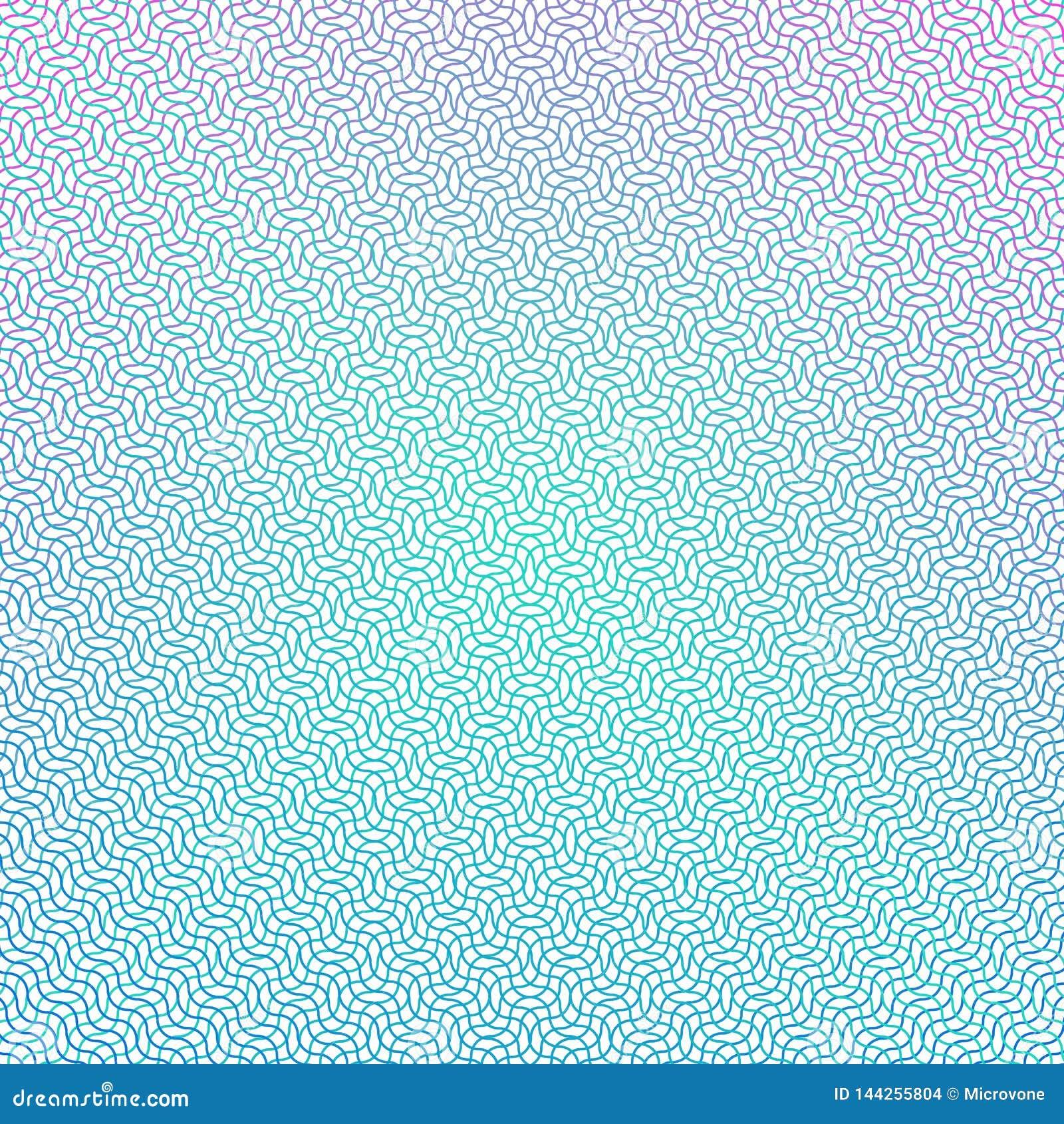 Giloszuje siatkę Pieniądze świadectwa tekstura Watermark waluty linii wektoru tło