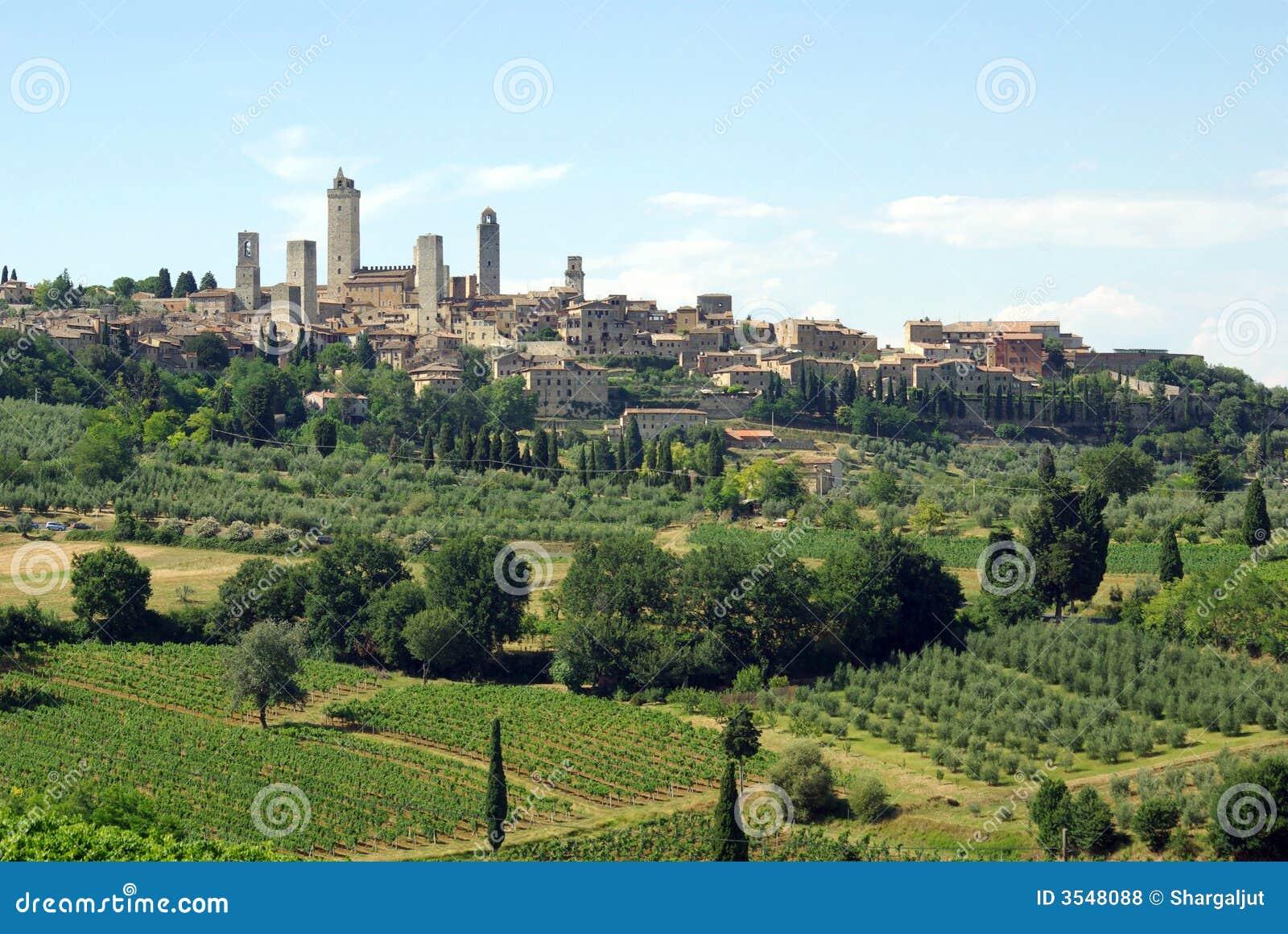 Gimignano Италия san Тоскана