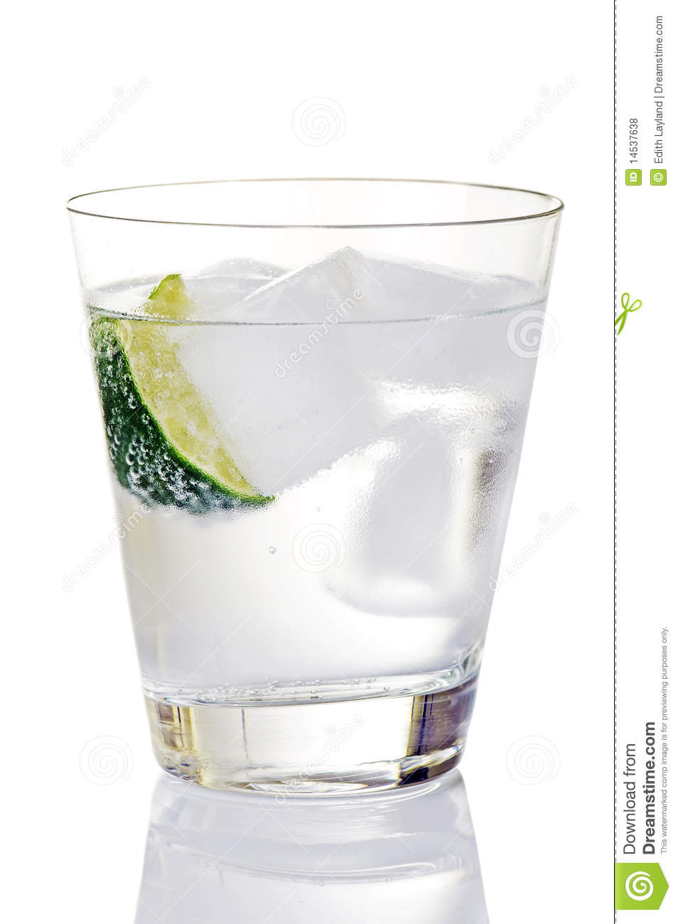 ... On Ice With Lime Wedge Royalty Free Stock Photos - Image: 14537638