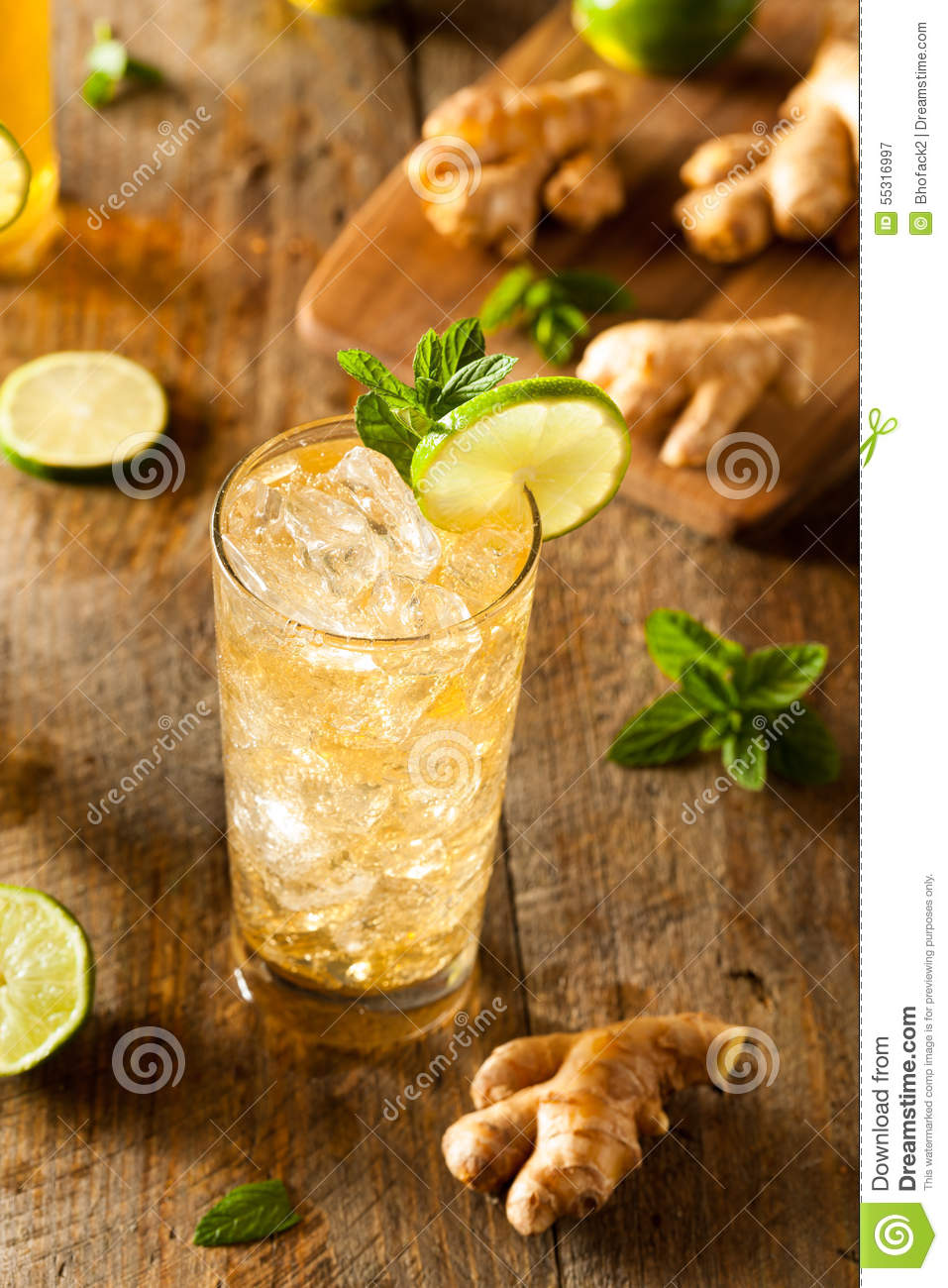 Ginger Beer dorato di rinfresco