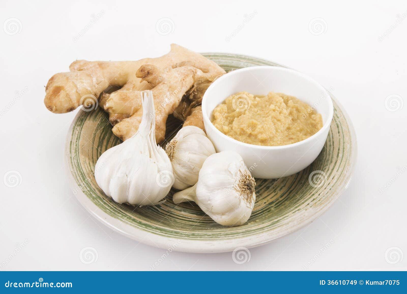 Ginger Garlic Paste Royalty Free Stock Images - Image: 36610749