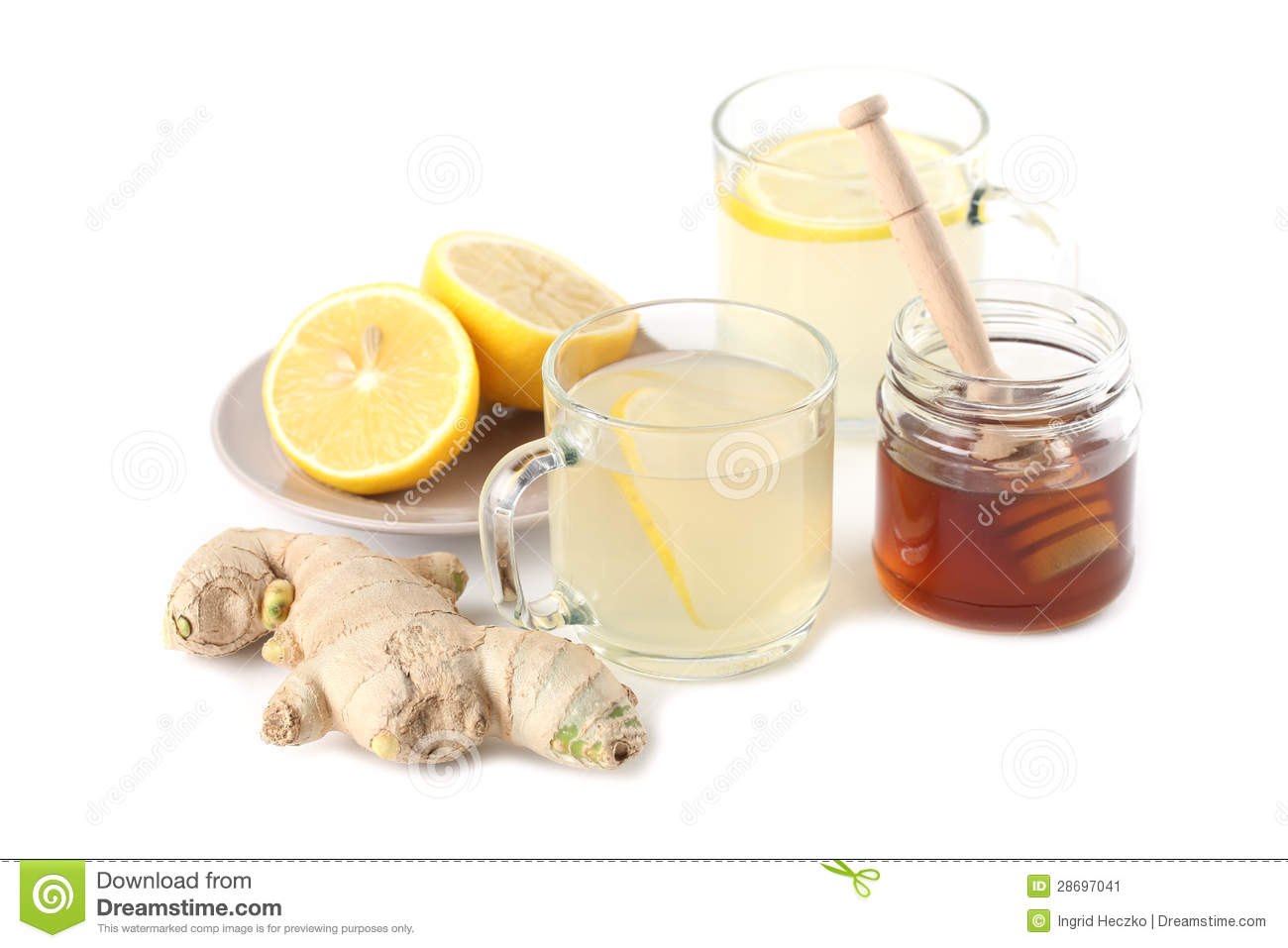 Ginger Tea With Honey And Lemon Stock Image - Image: 28697041