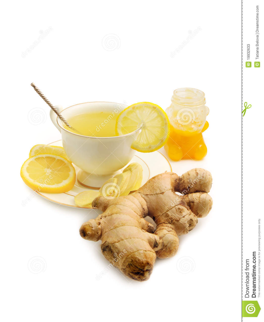 Ginger Tea With Lemon And Honey Stock Photos - Image: 19932633