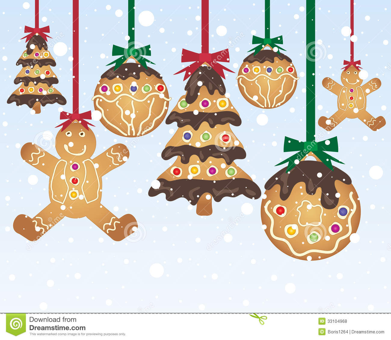 gingerbread baubles - Gingerbread Christmas Decorations