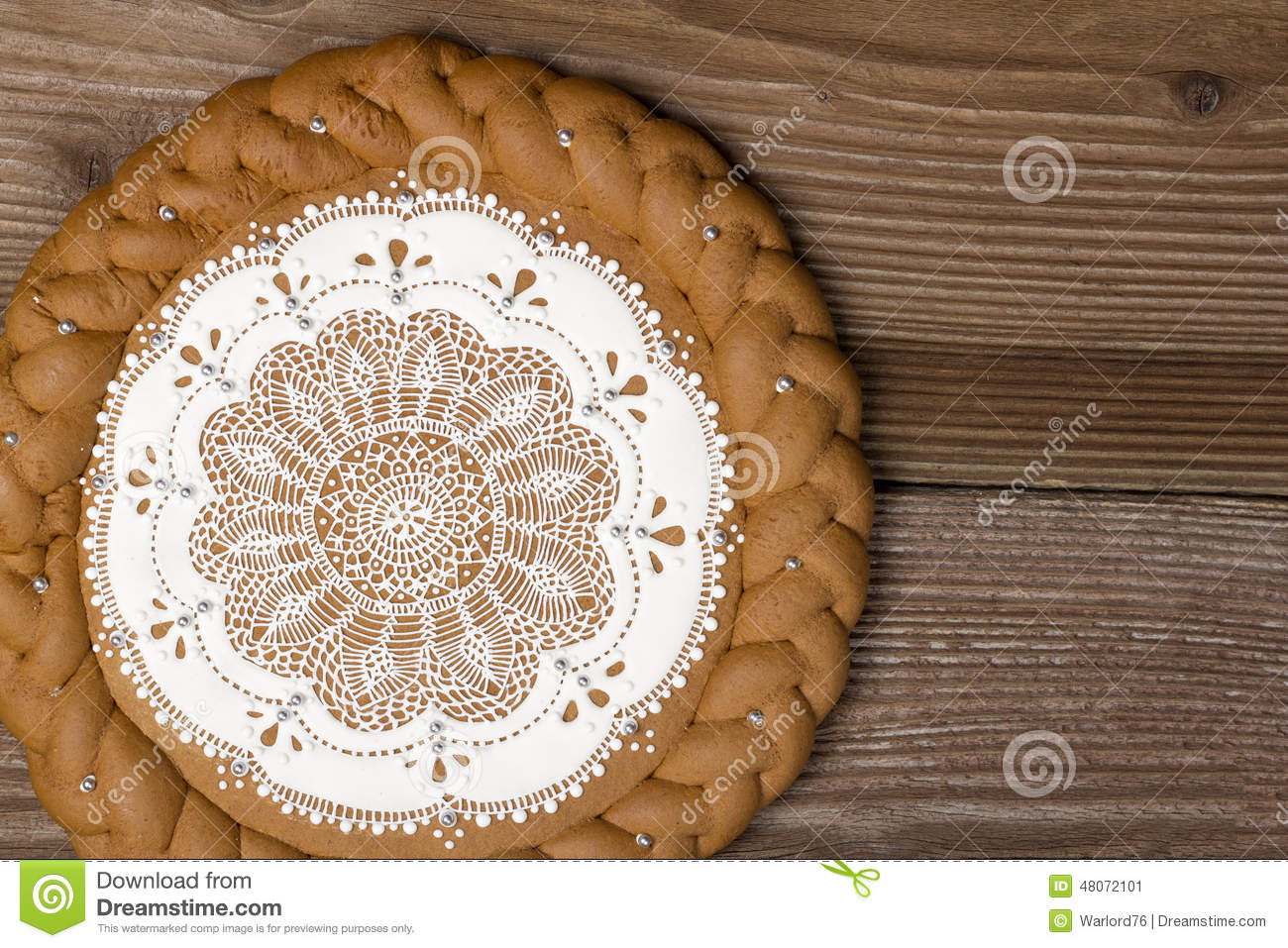 Ginger Cake Patterns And Design : Gingerbread Cake Stock Photo - Image: 48072101