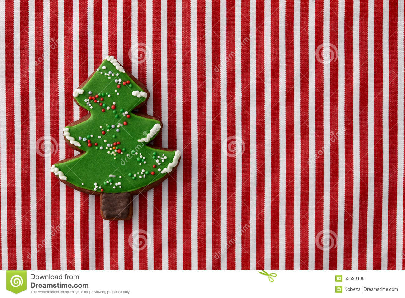 Gingerbread christmas tree cookie