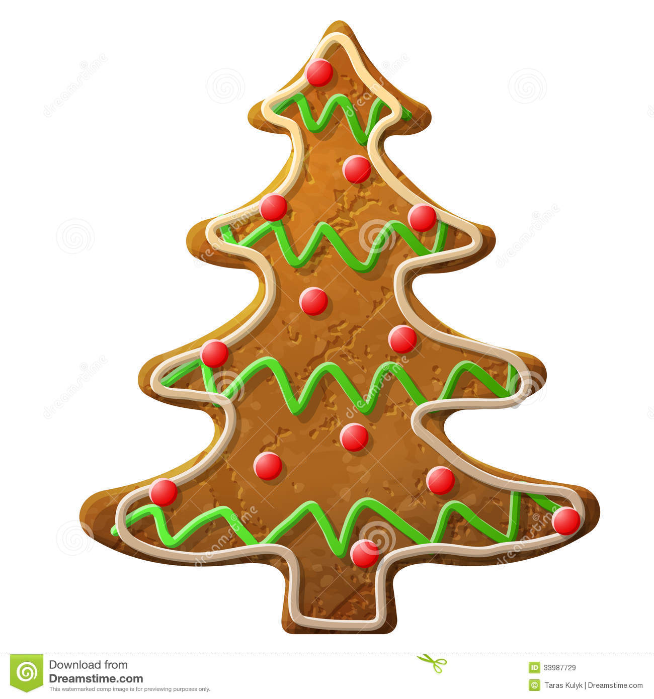 gingerbread christmas tree decorated colored icing stock vector rh dreamstime com Cute New Year Clip Art New Year 2018 Clip Art