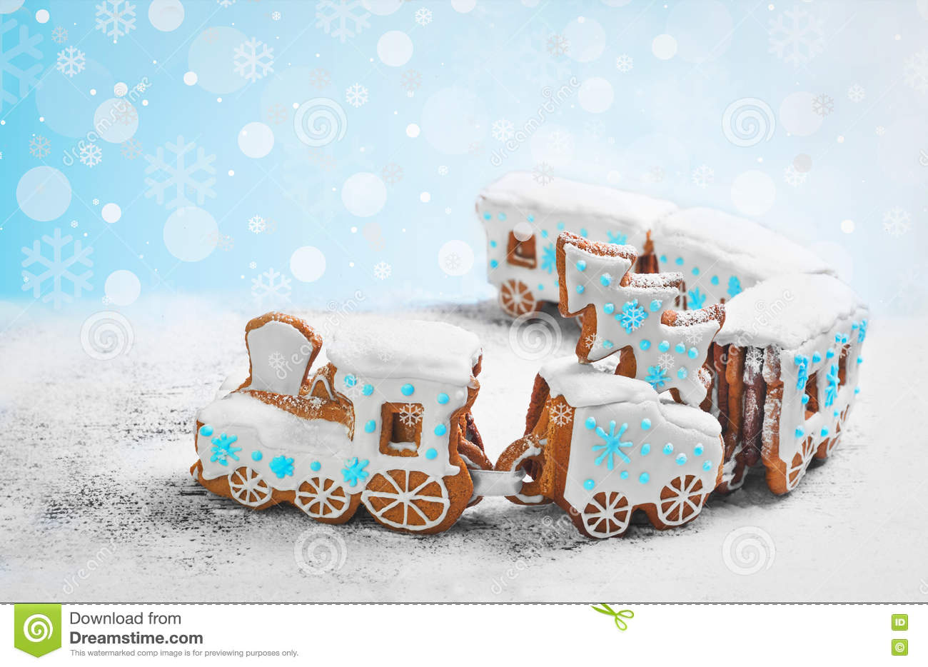 Coolmathgames Com Christmas Ornaments: Gingerbread Cookie In The Form A Christmas Train Stock