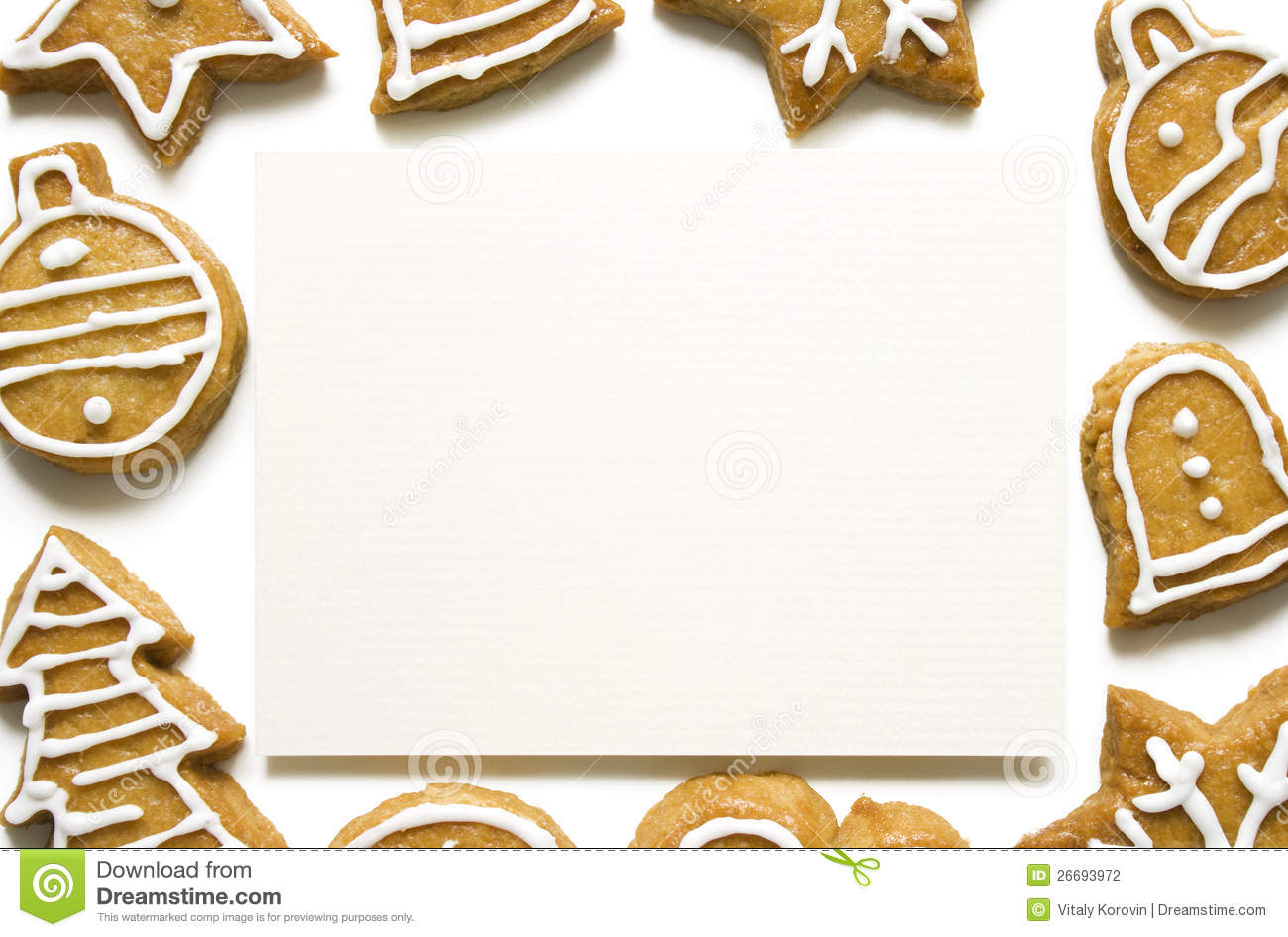 gingerbread cookie frame stock photo image of center
