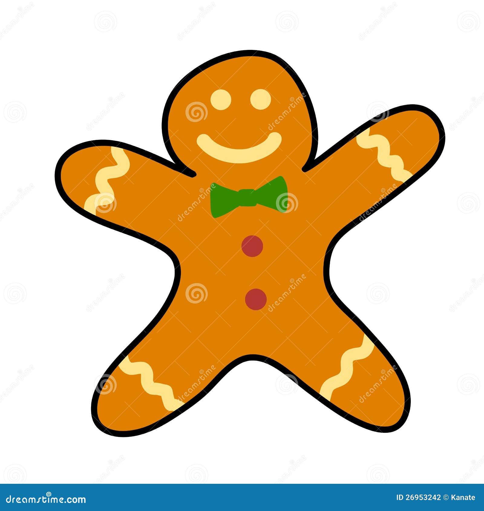Gingerbread cookies Hand writing cartoon.