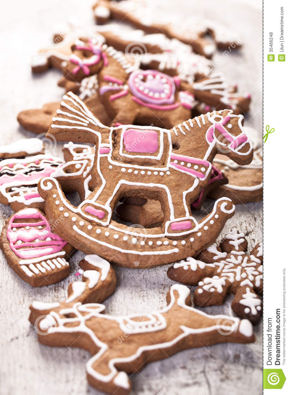 Gingerbread Cookies Stock Photo Image Of Biscuit Icing 35466248