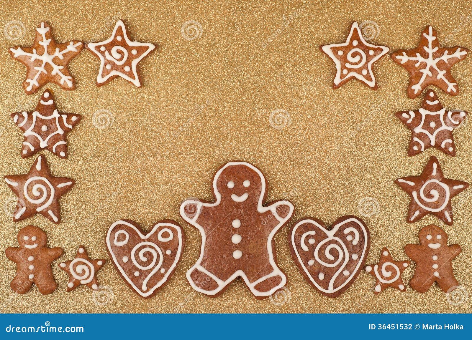 Homebaked Christmas Gingerbread Cookies border.