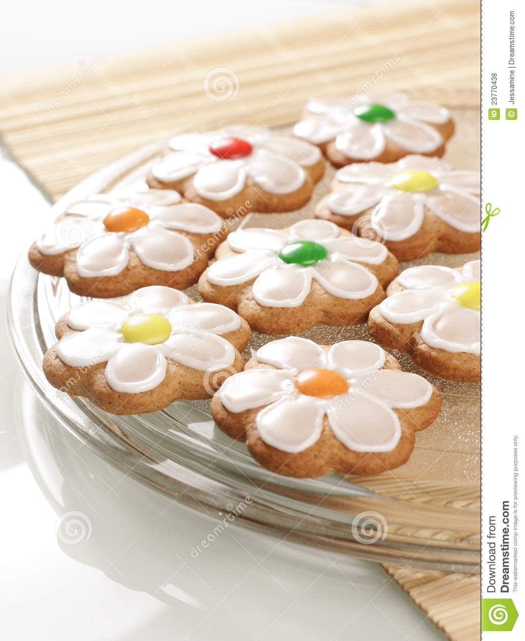 Gingerbread Cookies With Royal Icing Royalty Free Stock Photos - Image ...