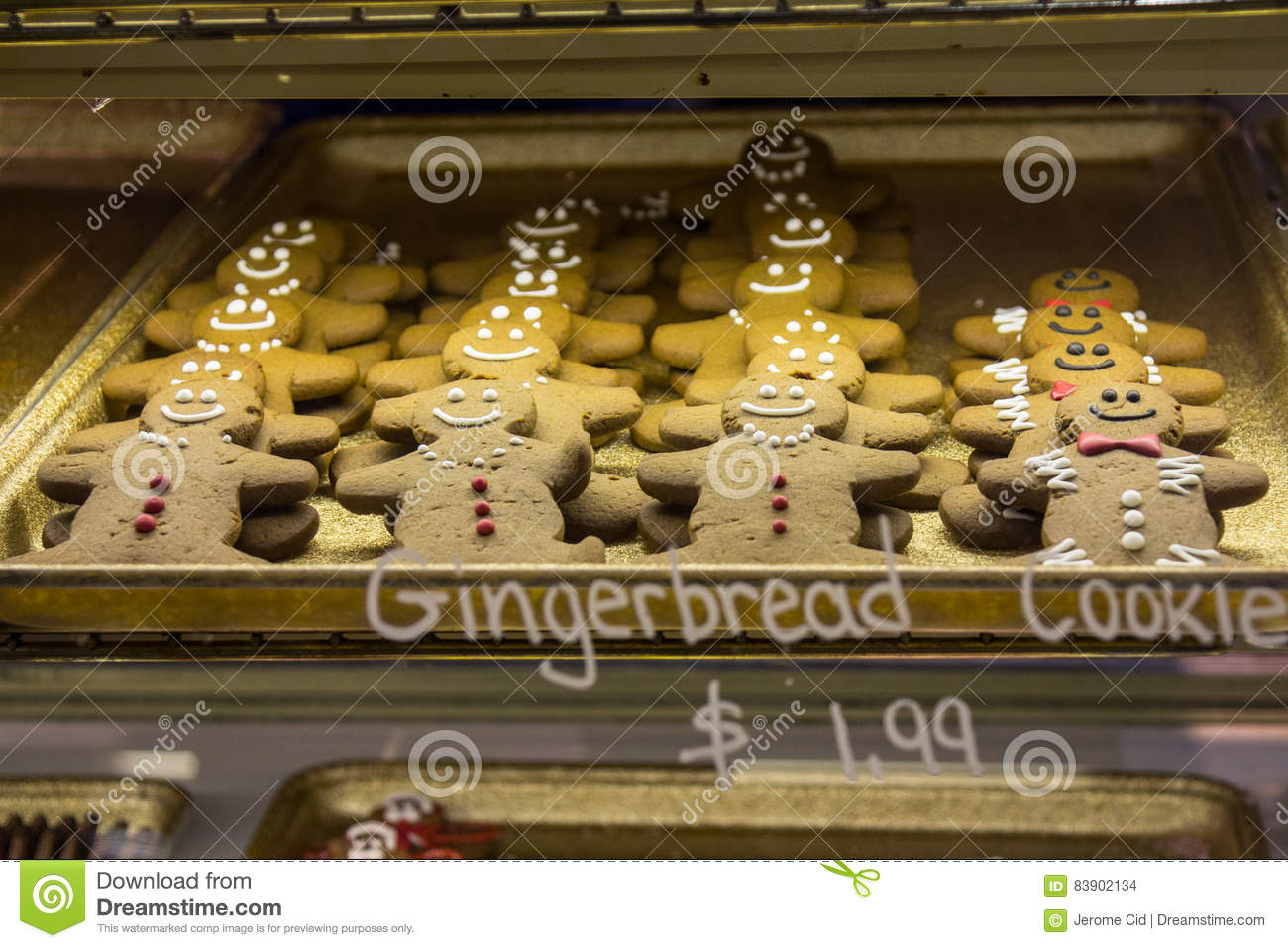 Gingerbread Cookies For Sale In St Lawrence Market Toronto Stock