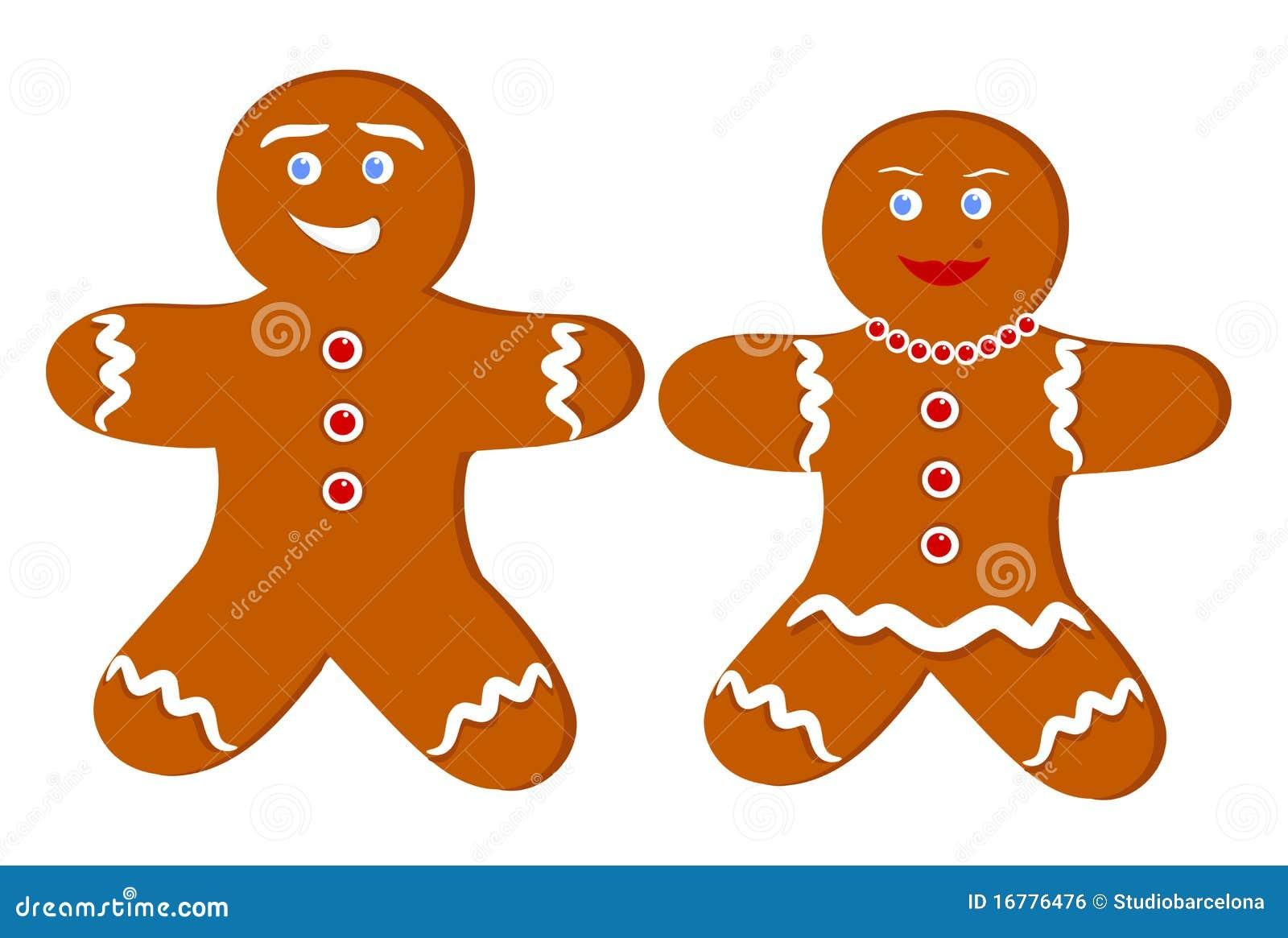 cute gingerbread cartoon