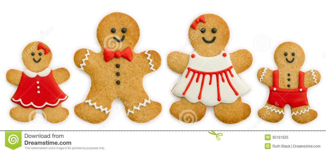 Gingerbread Family Royalty Free Stock Photo - Image: 35161625