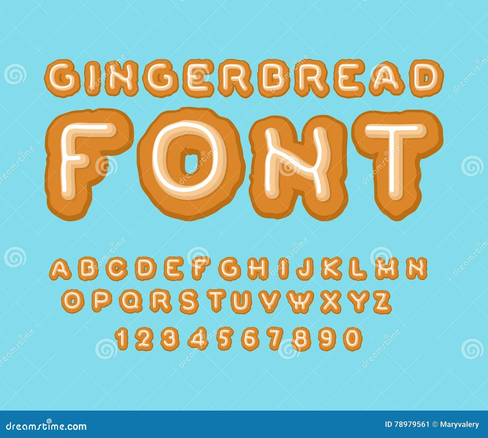 Gingerbread Font Christmas Cookie Alphabet Mint Cookies