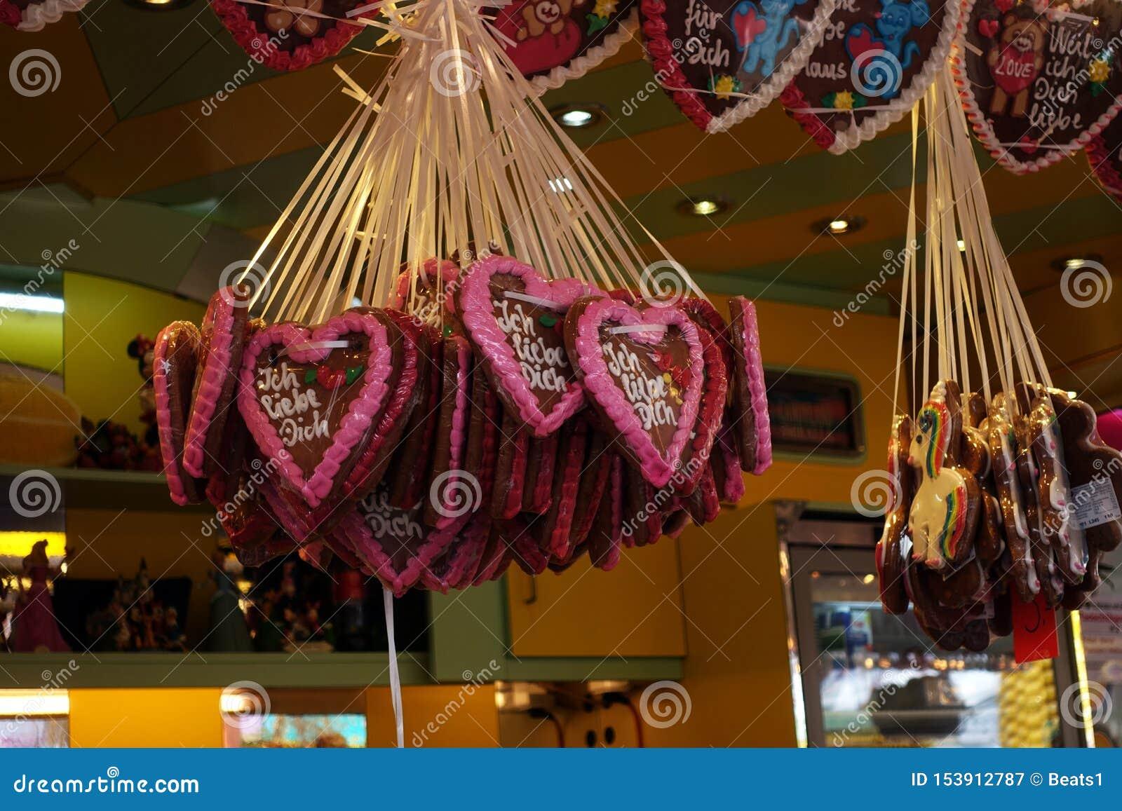 Gingerbread Heart On A Oktoberfest Or Amusement Park Or ...