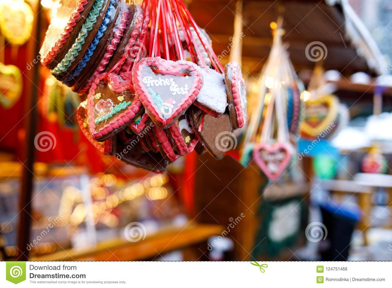download gingerbread hearts at german christmas market nuremberg munich berlin hamburg xmas - Why Is Christmas Called Xmas