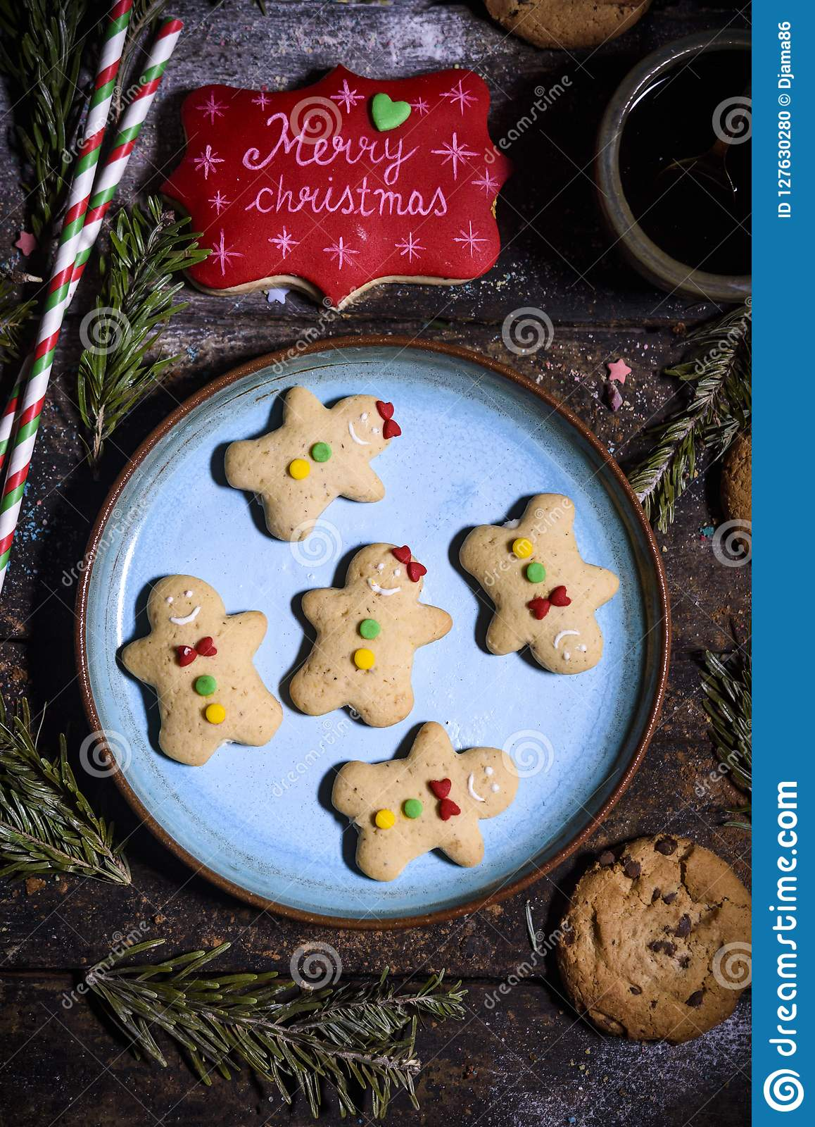 Gingerbread Holiday Cookies Stock Photo Image Of Traditional